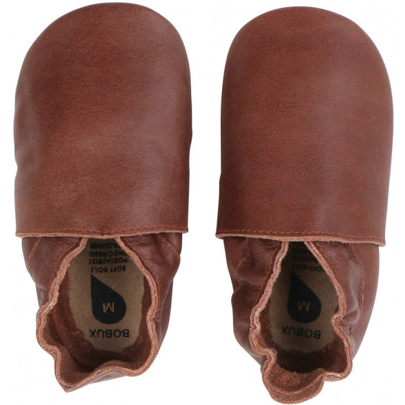 """Chaussons en cuir Soft Sole """"Classic Dot"""" Toffee"""