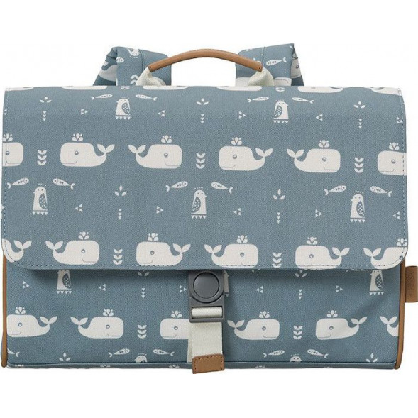 "Cartable (A4) en PET recyclé ""Baleine Bleue"""