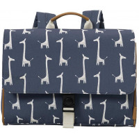 "Cartable enfant (A4) en PET recyclé ""Girafe"" (33 cm)"