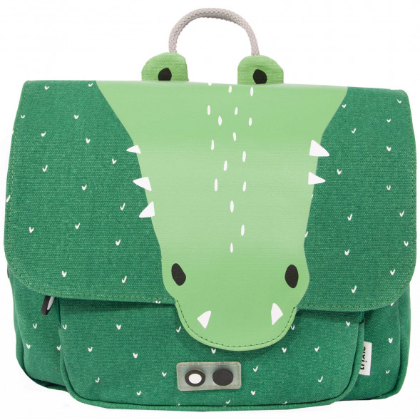 "Cartable en coton hydrofuge ""Mr Crocodile"""