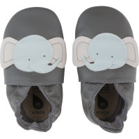 "Chaussons en cuir Soft Sole ""Elephant"" Gris"