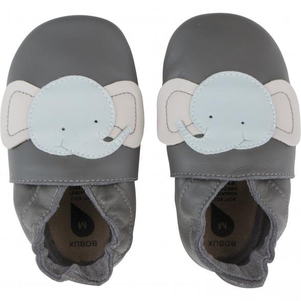 """Chaussons bébé en cuir Soft Sole """"Elephant"""""""