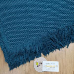 "Tapis Albertine en coton (85 x 140 cm) ""Bleu"" Nattiot"