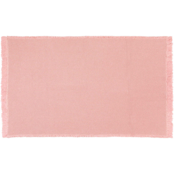 "Tapis Albertine en coton (85 x 140 cm) ""Rose"""