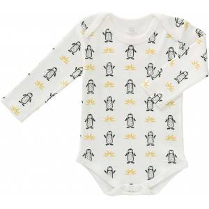 "Body bébé manches longues en coton bio ""Pingouin"" Fresk"