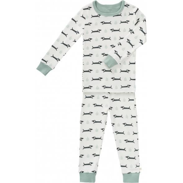 """Pyjama 2 pièces en coton bio """"Teckel"""""""
