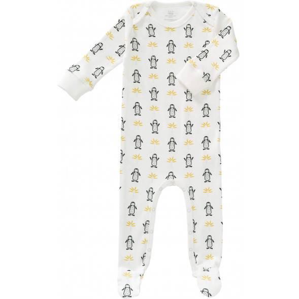 "Pyjama bébé avec pieds en coton bio ""Pingouin"""