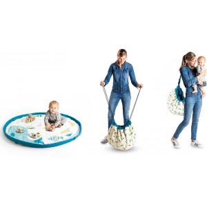 "Sac à jouets /Tapis de jeu bébé Soft ""Moulin Roty Olga"" Play & Go"