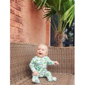 """Pyjama bébé avec pieds en coton bio """"Tigre"""" Changemacouche"""