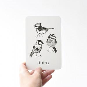 """Cartes d'art bébé """"Nombres / Nature"""" Wee Gallery"""