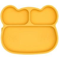 """Assiette compartiments à ventouse en silicone """"Ours Jaune"""""""