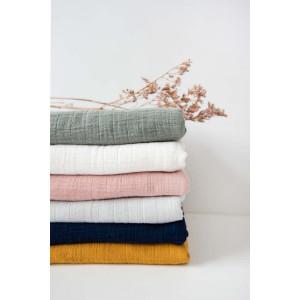 """Couverture polaire bébé en coton bio et velours """"Bliss Olive"""" Les Reves d'ANais"""