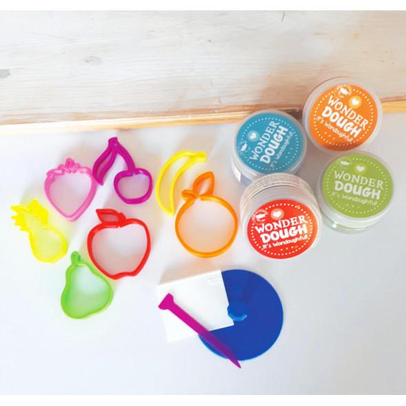 """Kit de pâte à modeler 100% naturelle """"Fruits"""""""
