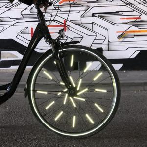 """Réflecteurs pour roues de vélo """"Argent"""" Rainette"""