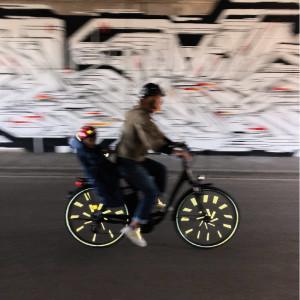 """Réflecteurs pour roues de vélo """"Multicouleur"""" Rainette"""