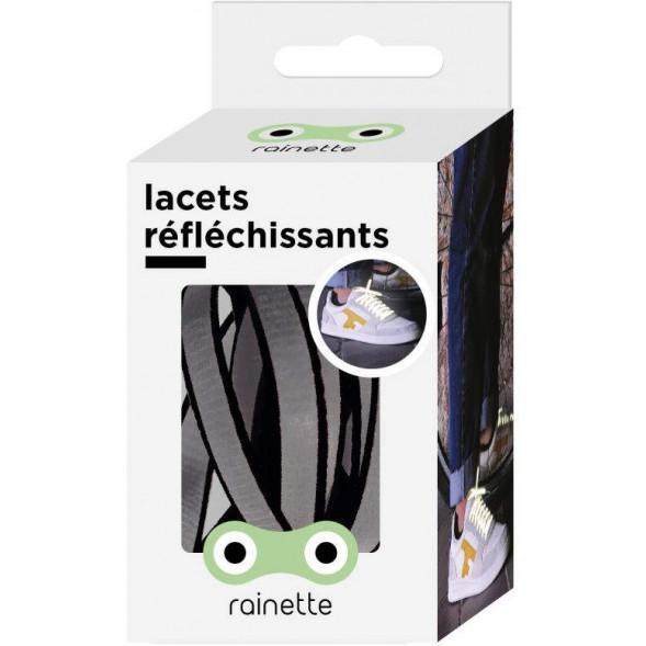 """Lacets réflechissants """"Noir"""""""