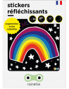 "Stickers réflechissants enfant ""Arc en ciel"" Rainette"
