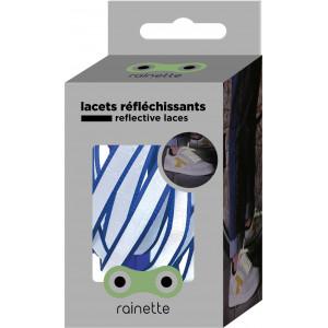 """Lacets réflechissants """"Bleu Outremer"""""""
