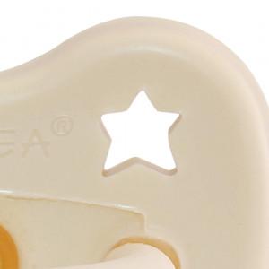 """Sucette ronde en caoutchouc naturel (3-36 mois) """"Milky White"""" Hevea Planet"""