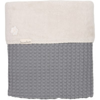 """Couverture de lit bébé en coton et polaire Oslo (100x150 cm) """"Gris foncé"""" Koeka"""