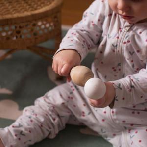 """Maracas bébé en bois """"Pastel"""" Pellianni"""