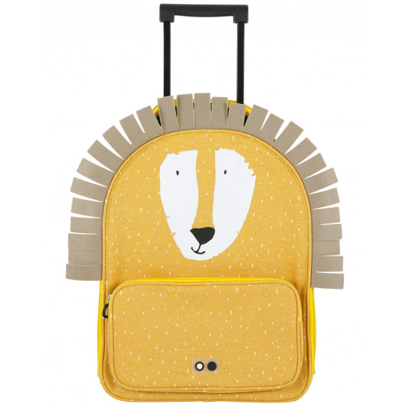 "Valise trolley enfant en coton hydrofuge ""Mr Lion"""