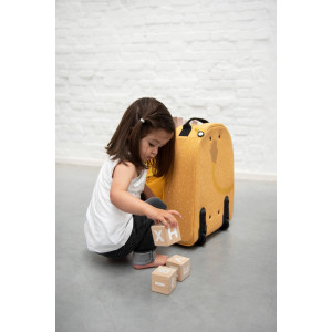 "Valise trolley enfant en coton hydrofuge ""Mr Lion"" Trixie Baby"