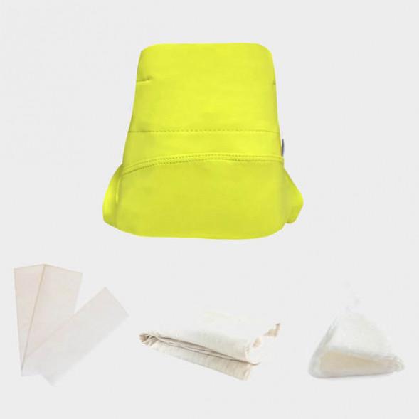 """Kit découverte culotte classique lavable en coton bio """"Green Banana"""""""