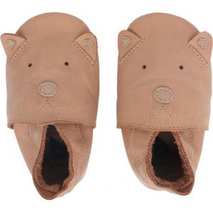 """Chaussons bébé souples en cuir Soft Sole """"Caramel Woof"""" Bobux"""