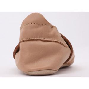 """Chaussons bébé en cuir Soft Sole """"Caramel Woof"""" Bobux"""