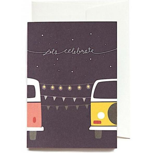 """Carte postale double """"Celebrate"""""""