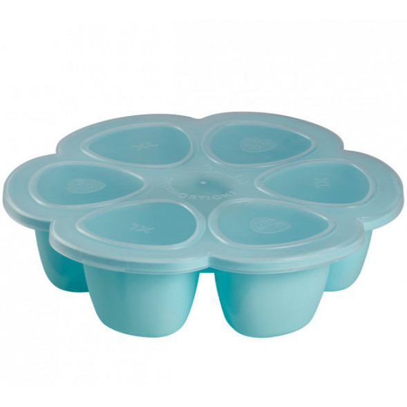 "Multiportions en silicone 6*150ml ""Bleu"""