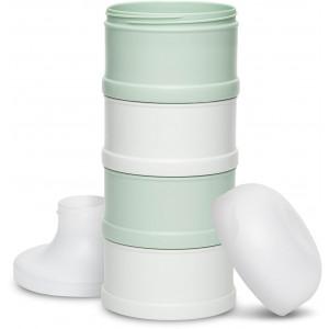 """Doseur de lait 4 compartiments Hygge """"Vert"""" Suavinex"""