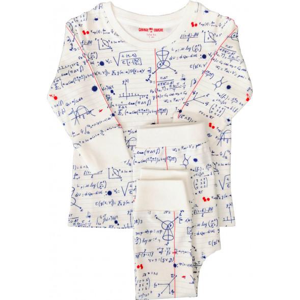 """Pyjama 2 pièces en jersey de coton bio """"Math Sup"""""""