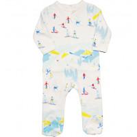 """Pyjama bébé avec pieds en coton bio """"Ski"""" Changemacouche"""