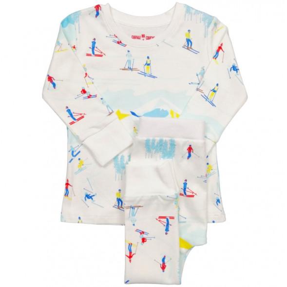 """Pyjama 2 pièces en jersey de coton bio """"Ski"""""""