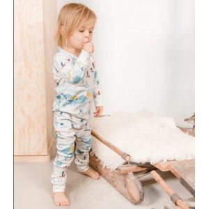 """Pyjama enfant 2 pièces en coton bio """"Ski"""" Changemacouche"""