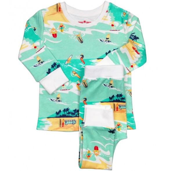 """Pyjama 2 pièces en jersey de coton bio """"Surfer"""""""
