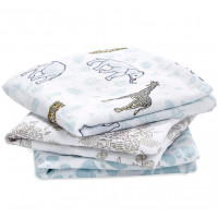 "Coffret de 3 petits langes en mousseline de coton ""Jungle"" Aden Anais"