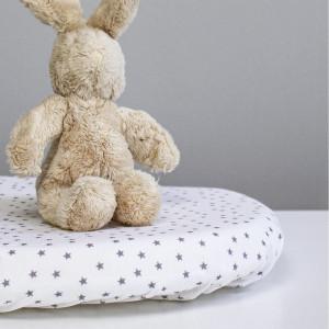 """Drap housse berceau bébé en coton bio """"Etoiles Blanc"""" Kadolis"""