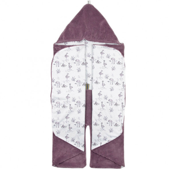 "Couverture nomade en polaire Trendy Wrapping ""Soft Mauve"" (0-12 mois)"