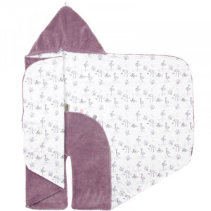"Couverture nomade  bébé polaire Trendy Wrapping ""Soft Mauve"" Snooze Baby"