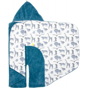 """Couverture nomade  bébé polaire Trendy Wrapping """"Storm Blue"""" Snooze Baby"""