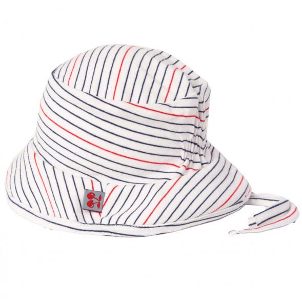 """Chapeau bébé été en coton bio """"Stripes Marine"""""""