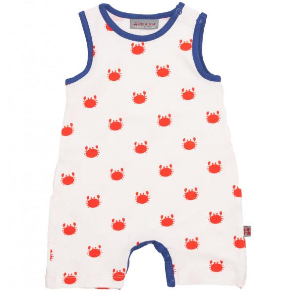 """Combishort bébé sans manches en coton bio """"Crabfish"""""""