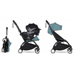 Pack Babyzen Duo : Poussette Yoyo² 6+ (châssis noir) + iZi Go Modular Besafe + adaptateurs