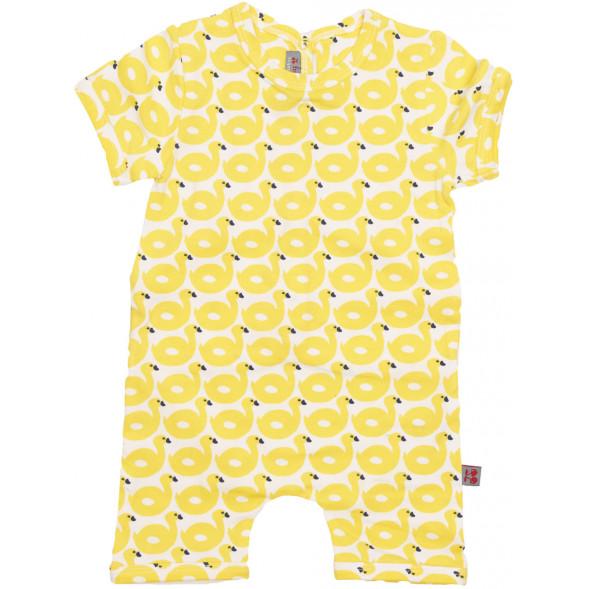 """Combishort bébé en coton bio """"Ducks"""""""