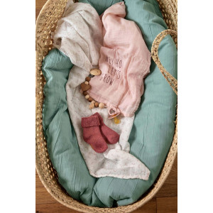 """Chaussettes bébé Naissance en coton bio """"Bois de rose"""" Lassig"""