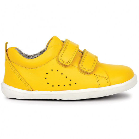 "Tennis en cuir Step Up Grass Court ""Jaune"""