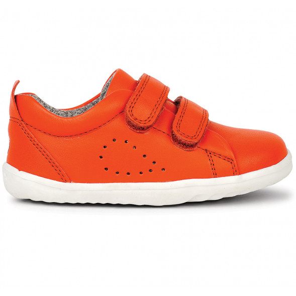 "Tennis en cuir Step Up Grass Court ""Orange"""
